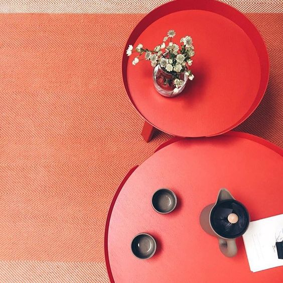 around table tangerine large & small, coffee table, Muuto, scandinavian interiors