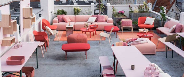 Rooftop party Muuto, rose, peach, fiesta, pinkish colour trends for spring 2016
