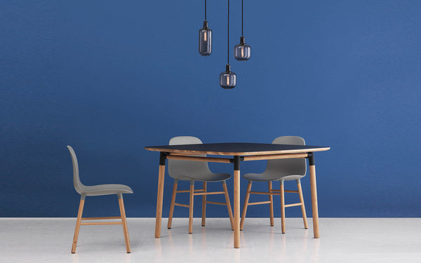 Form table and chairs Normann Copenhagen, blue, interiors, Scandinavian design