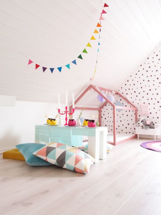 Play houses, kids bedroom, playroom inspiration, girls bedroom
