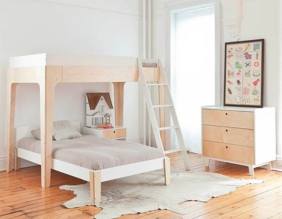 Perch twin bunk bed, Oeuf NYC, kidsroom, bedrrom kids