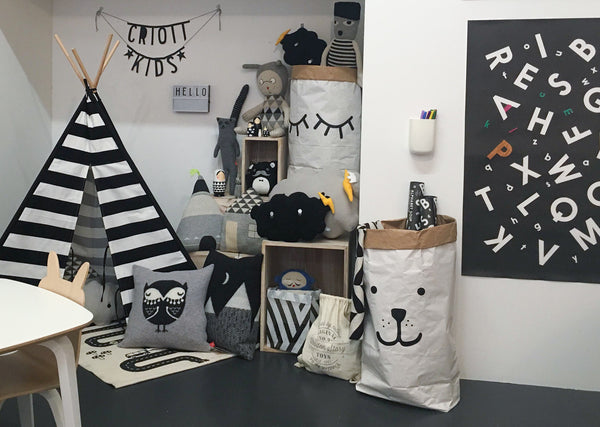 Monochrome, kids playroom