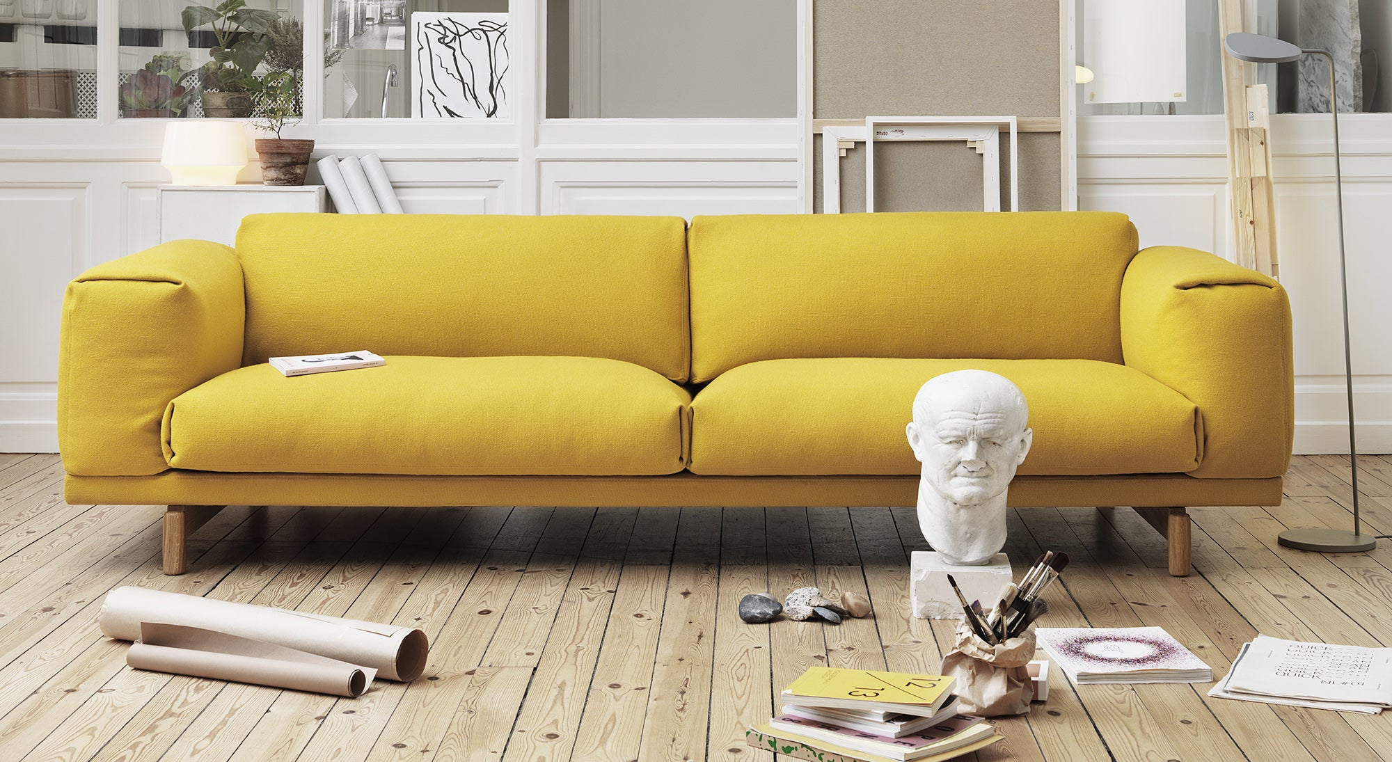 Rest sofa yello Muuto