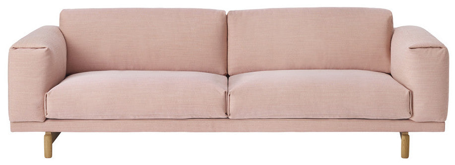 Rest sofa three seater - rose by Muuto