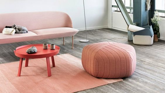 Muuto livingroom, Pinkish colour trends for spring 2016, interiors