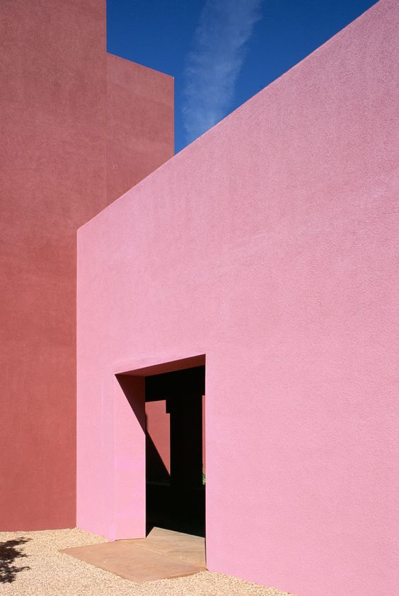 Luis Barragan, Mexican architect, pink wall inspiration, architecture