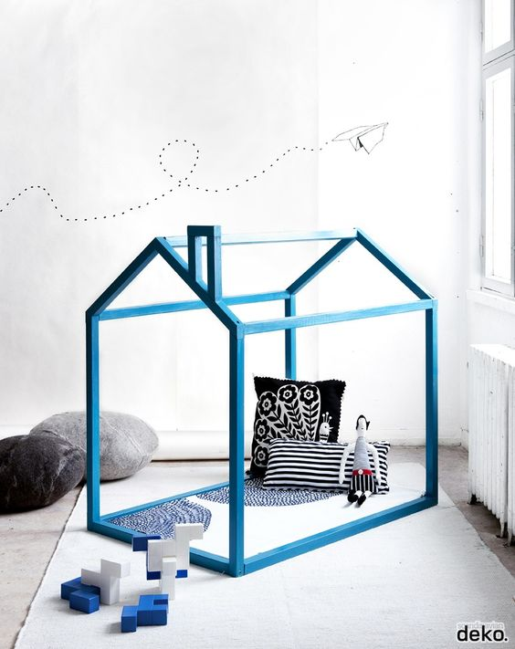 play house blue, inspiration kids bedroom / playroom