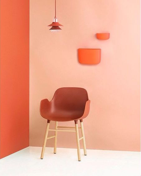 Form arm chair, pocket organizer orange Normann Copenhagen