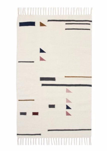 Kelim Rug-Color Triangles-Small