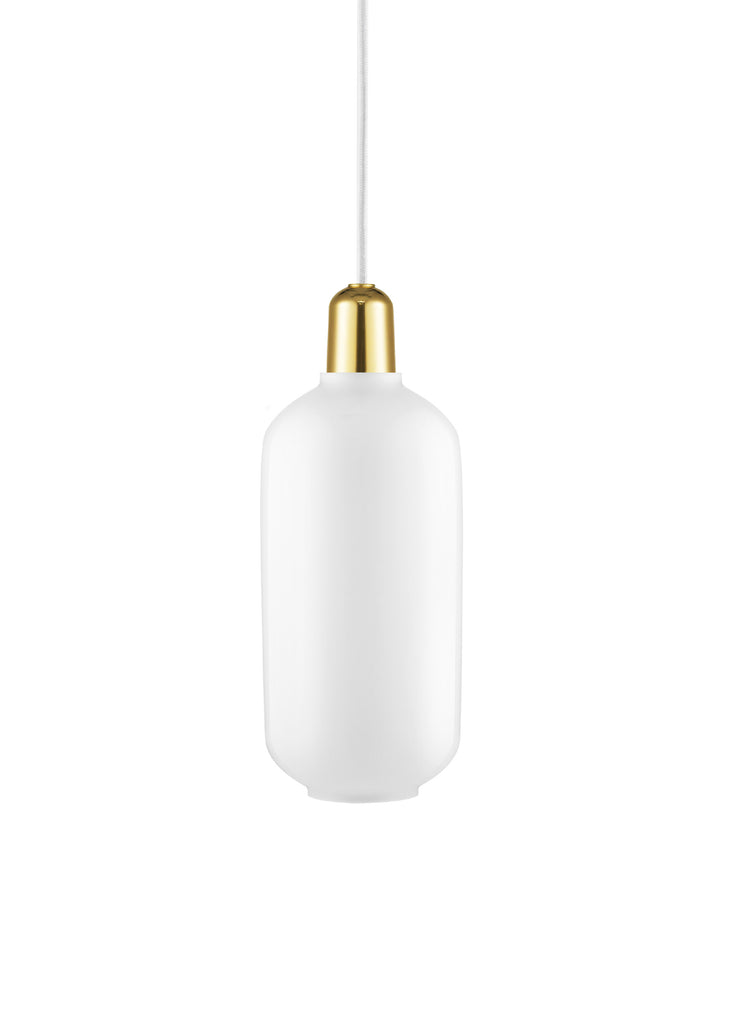 Amp Lamp White/Brass