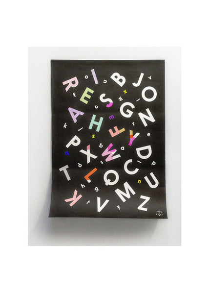 Alphabet Soup coloring poster -  - Rock and Pebble