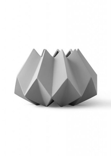 Folded Vase - low - Low / Ash - Menu A/S - 1