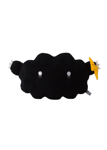 Cloud cushion black - Medium 43cm x 24cm - Noodoll - 1