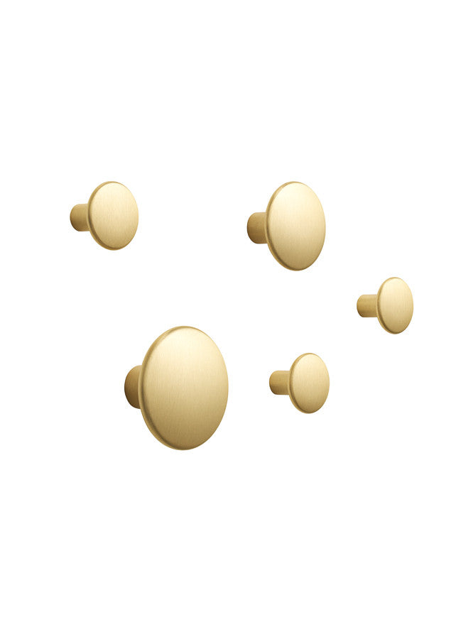 The Dots Metal - Set of 5 - Brass - Muuto - 2