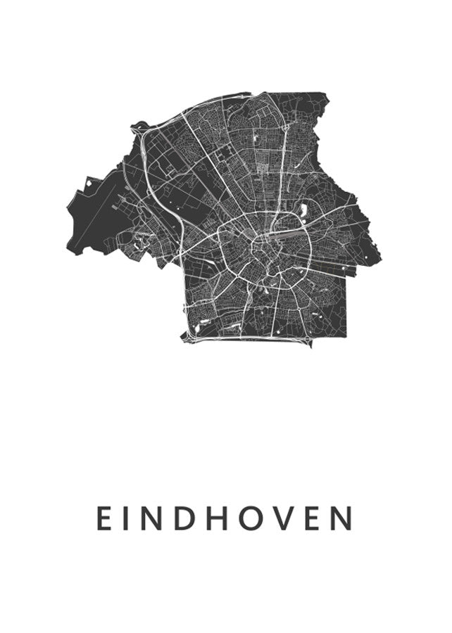 Eindhoven City Map -  - Art in Maps - 1