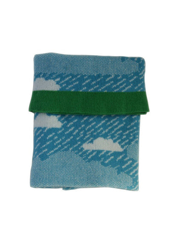 Rainy Day Mini Blanket blue