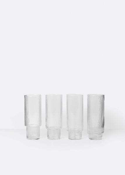 Ripple Long Glasses (set of 4)