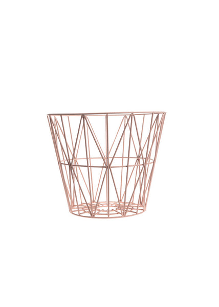 Wire Basket- Rose - Small - Ferm Living - 1