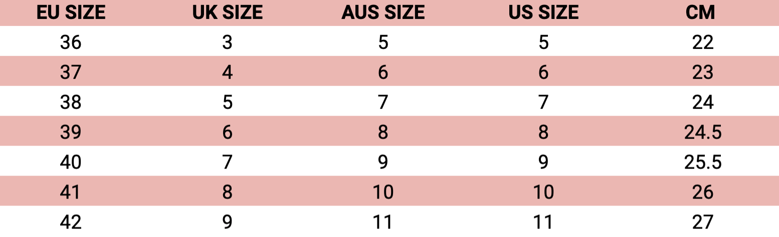 twoobs sizing chart