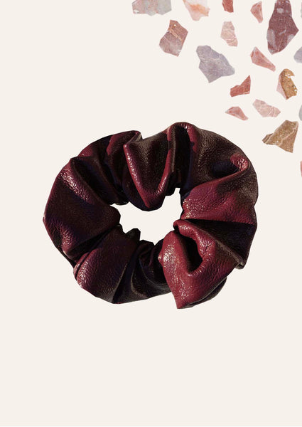 Vegan Leather Scrunchies