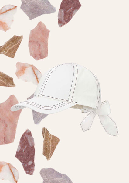 Kimberly Cotton Cap - White