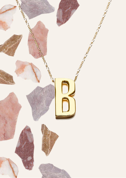 Alphabet Necklace Gold (Only 1 Left)