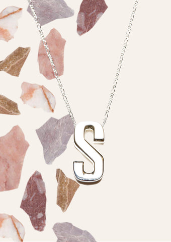 Alphabet Necklace Silver