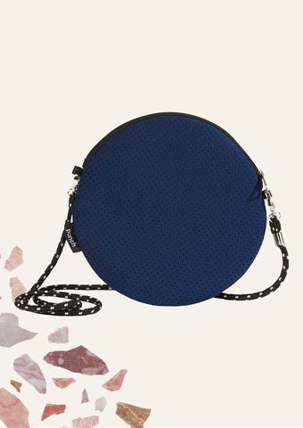Round Shoulder Bag - Navy