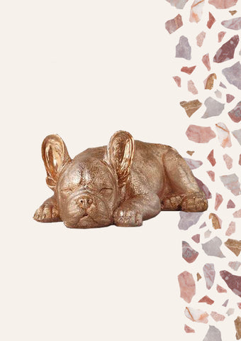 Sleeping Frenchie - Gold (Sold Out)
