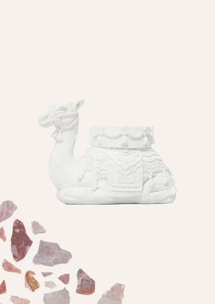 Camel Candle Holder - White