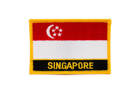 Singapore Flag Embroidered Patch