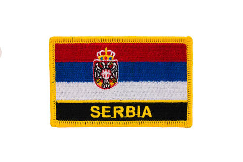Serbia Flag Embroidered Patch