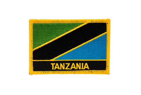 Tanzania Flag Embroidered Patch