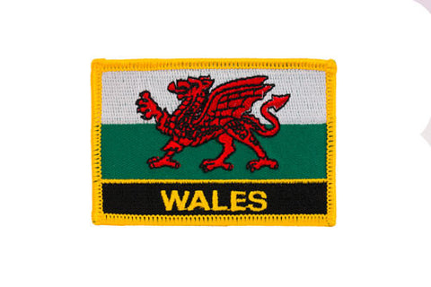 Wales Flag Embroidered Patch