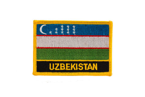 Uzbekistan Flag Embroidered Patch