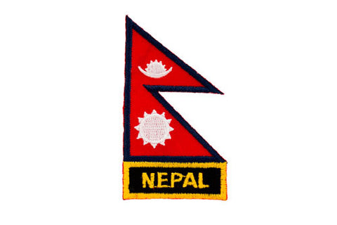 Nepal Flag Embroidered Patch