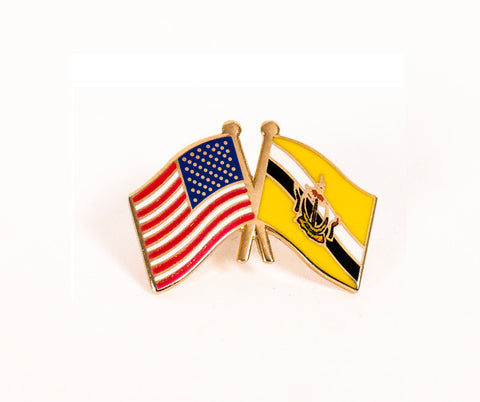 USA/Brunei Flag Lapel Pin