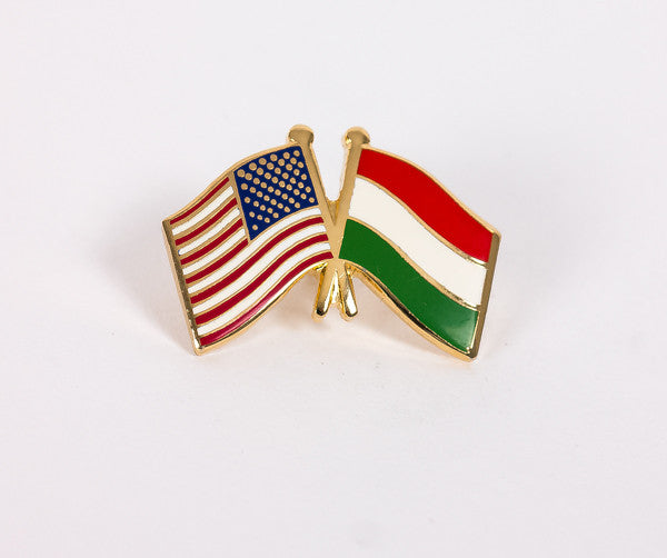 USA/Hungary Flag Lapel Pin
