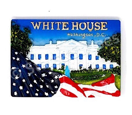 The White House Ceramic Magnet