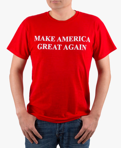 Make America Great Again Embroidered T-Shirt Navy