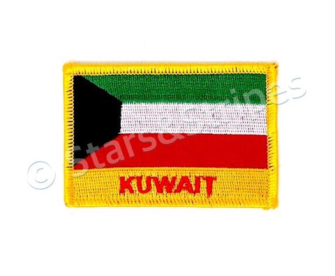 Kuwait Flag Embroidered Patch