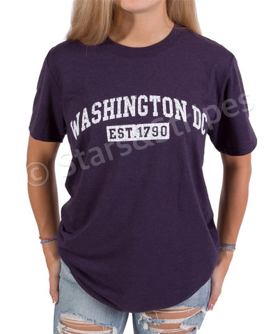 Washington DC EST 1790 Tee Shirt (dark purple )