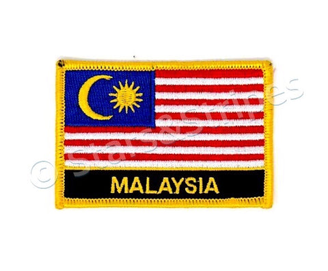 Malaysia Flag Embroidered Patch