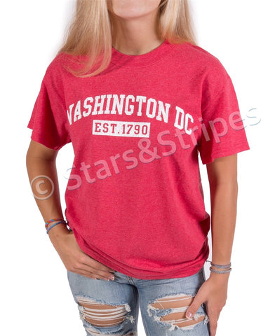 Washington DC EST 1790 Tee Shirt (heather red)