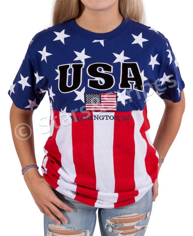USA Embroidery T-shirt