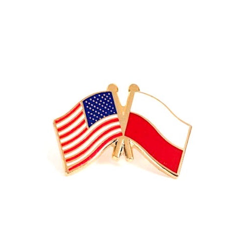 USA/ Poland Flag Lapel Pin