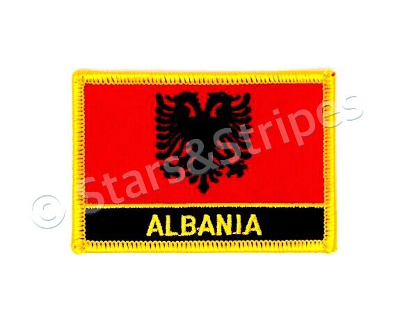 Albania Flag Embroidered Patch