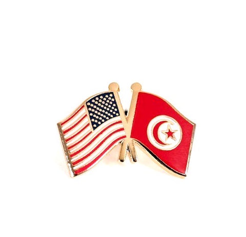 Usa Tunisia Flag Lapel Pin Starsandstripesdc