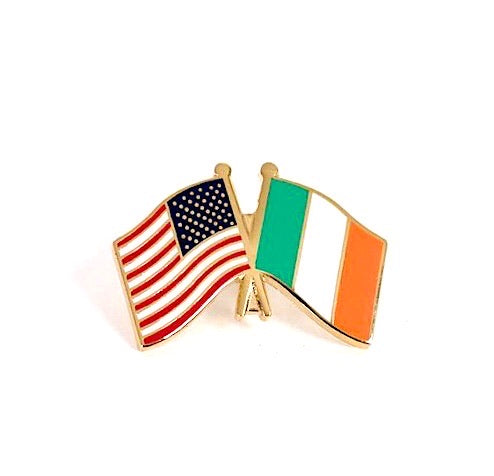 USA/Ireland Flag Lapel Pin