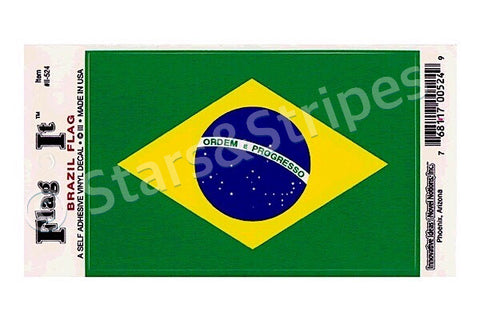 Brazil Flag Decal Sticker